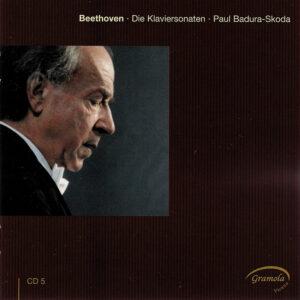 Beethoven: The Piano sonatas 5, Badura-Skoda, CD cover