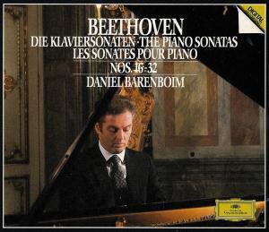 Beethoven: Piano sonatas 16 - 32, Barenboim, CD cover