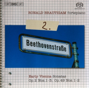 Beethoven: vol.2 - Piano sonatas opp.2/1-3, 49/1-2 — Brautigam, CD cover