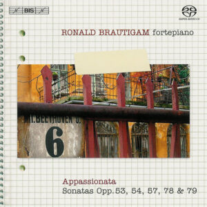 Beethoven: vol.6 - Piano sonatas opp.53, 54, 57, 78, 79 — Brautigam; CD cover