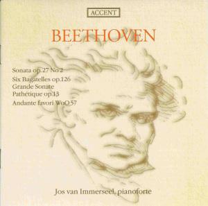 Beethoven: Piano sonatas opp.13 & 27/2, Bagatelles, Andante favori, van Immerseel, CD cover