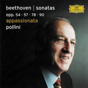Beethoven: Piano Sonatas opp.54, 57, 78, 90 — Pollini; CD cover