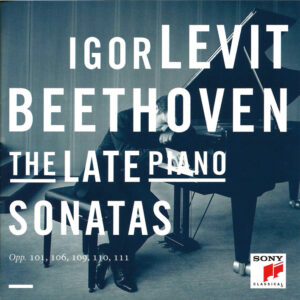 Beethoven: Piano Sonatas opp.101, 106, 109-111 — Levit; CD cover