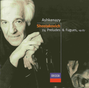 Shostakovich: 24 Preludes, Ashkenazy, CD cover