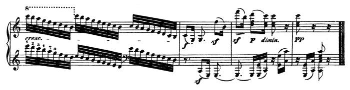 Beethoven, piano sonata No.32 c minor, op.111: mvt 2, score sample 4: closure