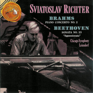 Brahms: Piano Concert No.2 op.83; Beethoven: Piano Sonata op.57 — Richter, CD cover