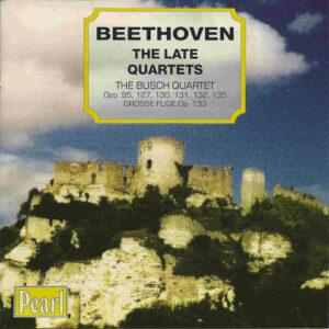 Beethoven, string quartets opp.95, 127 - 135, Busch Quartet, CD cover