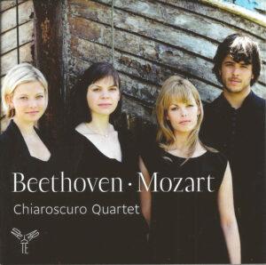 Beethoven: String quartet op.95; Mozart: String quartets KV 428 & 546, Chiaroscuro Quartet, CD cover