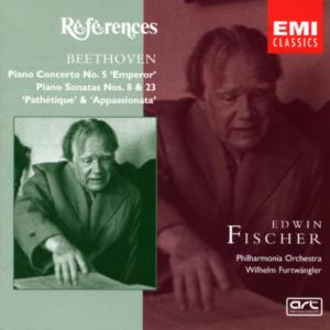 Beethoven: Piano concerto No.5, Piano sonatas No.8 & 23, Edwin Fischer, CD cover