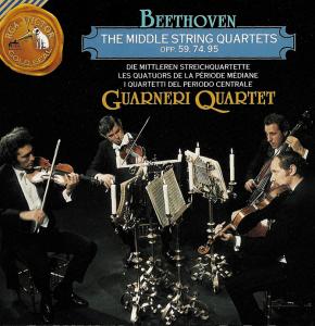 Beethoven, string quartets opp.59, 74 & 95, Guarneri String Quartet (1966), CD cover