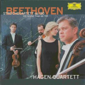 Beethoven, string quartets opp.130 & 133, Hagen Quartett, CD cover