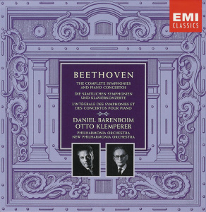 Beethoven: The Complete Symphonies and Piano Concertos, Klemperer/Barenboim, CD cover