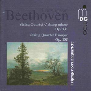 Beethoven, string quartets opp.131 & 135, Leipziger Streichquartett, CD cover