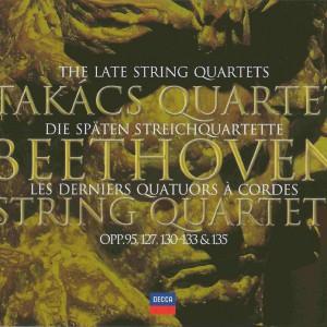 Beethoven: string quartets opp.95, 127 - 135, Takács Quartett, CD cover