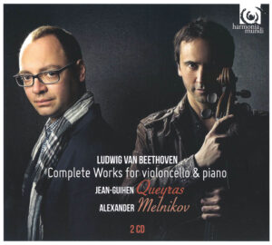 Beethoven: Cello Sonatas —Queyras, Melnikov; CD cover