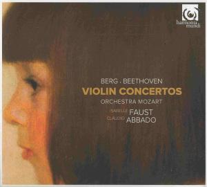 Alban Berg / Beethoven: violin concertos, Faust, Abbado, CD cover
