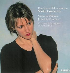 Beethoven / Mendelssohn: Violin concertos, Mullova, Gardiner, CD, cover
