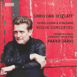 Mendelssohn / Schumann: Violin concertos, Tetzlaff, Järvi, CD, cover