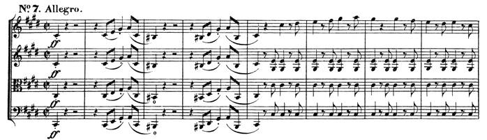 Beethoven, string quartet op.131, mvt.7, score sample