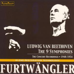 Beethoven: Symphonies 1 - 9 —Furtwängler, concert recordings; CD cover