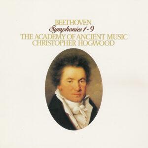 Beethoven: Symphonies 1 - 9 —Hogwood, AAM; CD cover