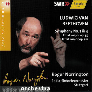 Beethoven: Symphonies 3/4 — Norrington, RSO Stuttgart; CD cover
