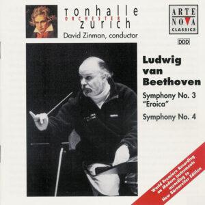 Beethoven: Symphonies 3/4 —Zinman / TOZ; CD cover