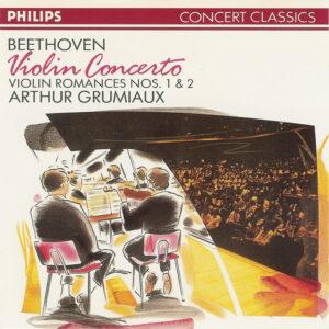 Beethoven: Violin Concerto, Romances — Grumiaux, Galliera; CD cover