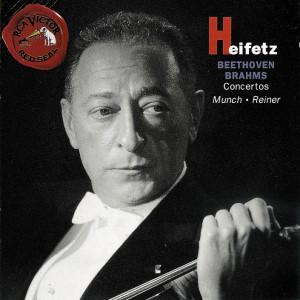 Beethoven / Brahms: Violin Concertos — Haifetz / Rainer; CD cover