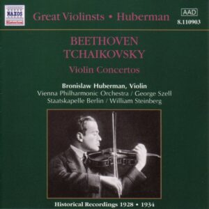 Beethoven / Tchaikovsky: Violin Concertos — Hubermann; CD cover