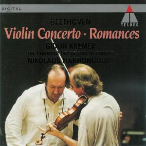 Beethoven: Violin Concerto, Romances — Kremer, Harnoncourt; CD cover