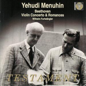 Beethoven: Violin Concerto, Romances — Menuhin, Furtwängler; CD cover