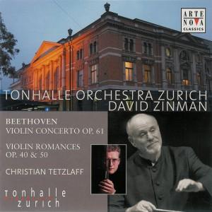 Beethoven: Violin Concerto, Romances — Tetzlaff, Zinman; CD cover