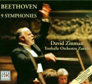 Beethoven: Symphonies 1 - 9 —Zinman / TOZ; CD cover