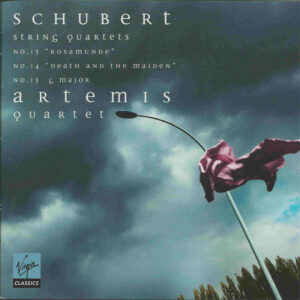 Schubert: String Quartets No. 13-15 — Artemis Quartet; CD cover