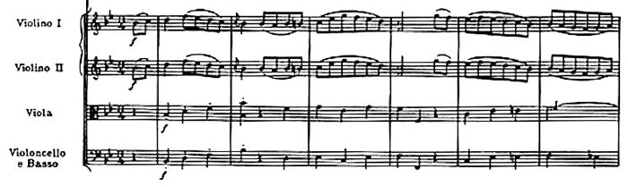 Haydn, Symphony No.68 in B flat major, score sample, mouvement #2, Menuetto