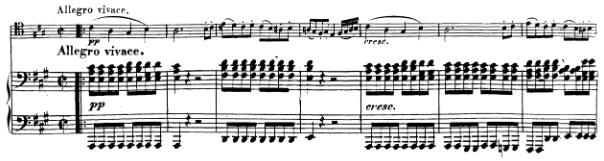 Beethoven, Cello Sonata in A major, op.69; score sample: movement IV