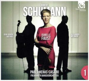 Schumann: Piano Trio #3, Violin Concerto —Faust, Heras-Casado; CD cover